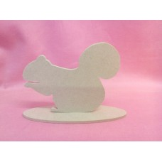 4mm MDF Squirrel on a base